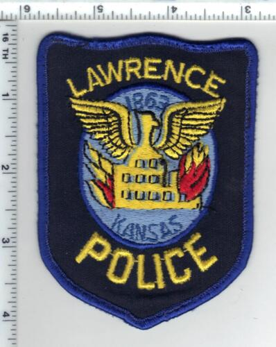 Lawrence Police (Kansas) uniform take-off patch from the 1980