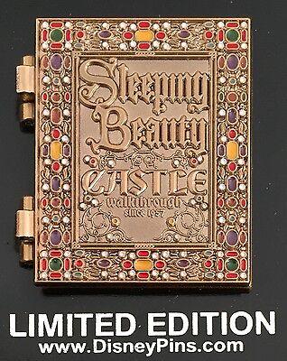 DISNEY PIN SLEEPING BEAUTY CASTLE WALKTHROUGH 60TH STORYBOOK LE DISNEYLAND PIN