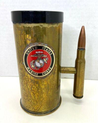 Vintage US Marine Corps Trench Art Beer Stein