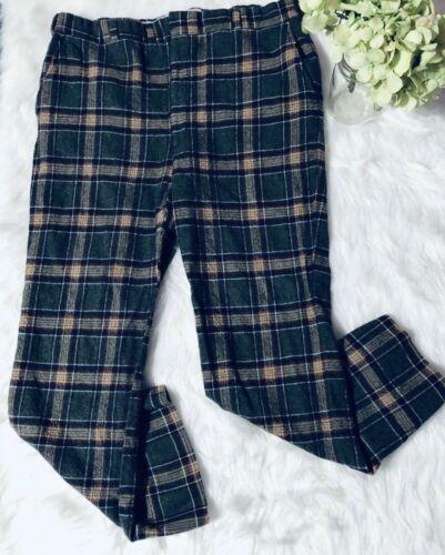 VTG 70s HUBBARD Mens Sz 34X26 Wool Gray Plaid Golf Dress Slacks Pants