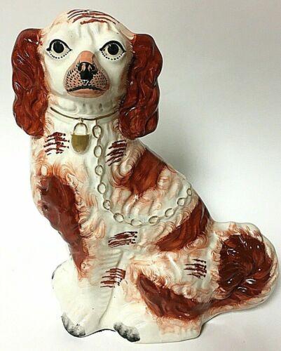 Vintage Staffordshire Spaniel Dog Porcelain Figurine Statute