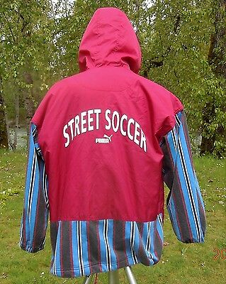 "PUMA JACKET STREET SOCCER  XXS TAG BUT 48""/122cm CHEST ZIPPER HOODIE PUMA COAT"
