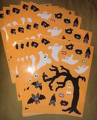 Halloween Eye Stickers (15 sheets Mrs Grossmans Ghosts Bats Stickers Spider Halloween Eyes Haunted)