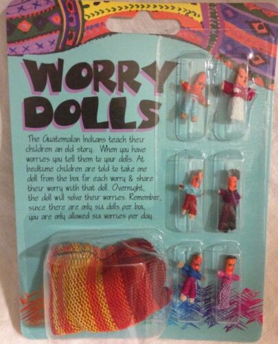 Set of Worry Dolls with pouch NEW in package  Wicca Pagan Metaphysical