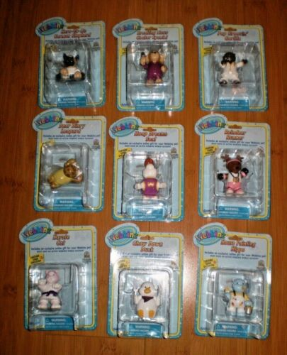 9 BRAND NEW LOT WEBKINZ PVC FIGURES CAKE TOPPERS FAVORS W/CODES reindeer hippo