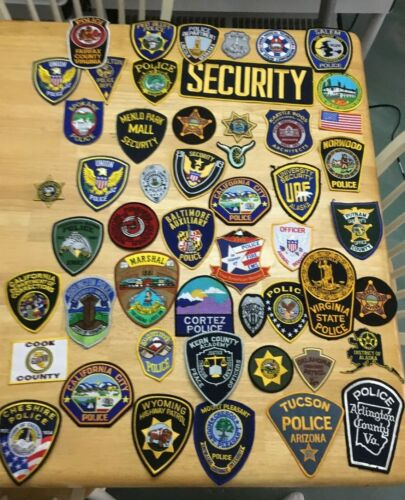 NICE LOT OF 50  LAW ENFORCEMENT PATCHES   FTC-01