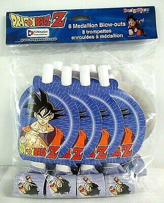 8 Pack DRAGON BALL Z BLOWOUTS ~ Birthday Party Supplies Favors Toei Cartoon GoKu - Goku Party Supplies