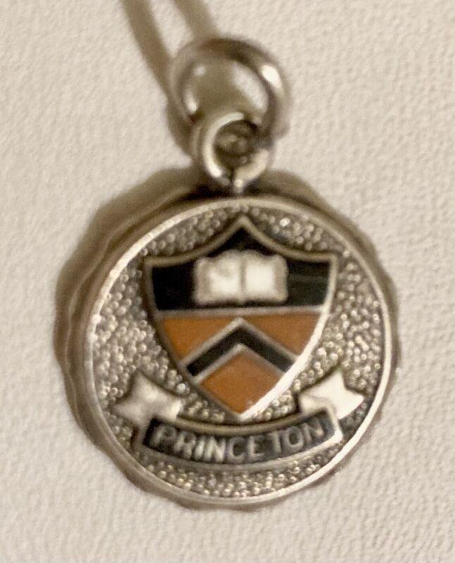 Antique PRINCETON UNIVERSITY Enamel Sterling Silver Charm Pendant