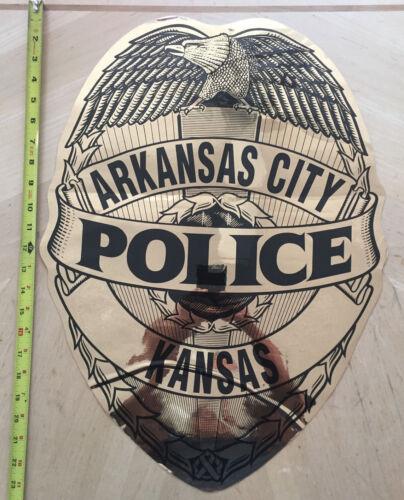 COP CAR DOOR SHIELD DECAL ARKANSAS CITY POLICE KANSAS  KS *