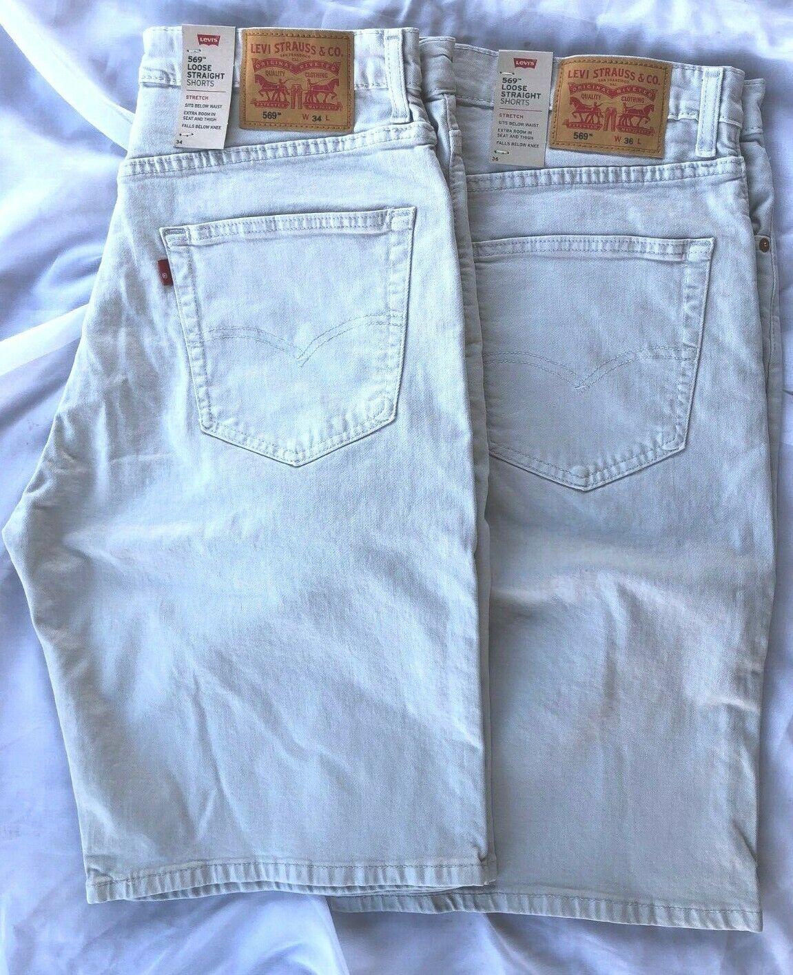 NWT Men Levi's 569 5 Pocket Shorts Loose Straight Denim 12 i