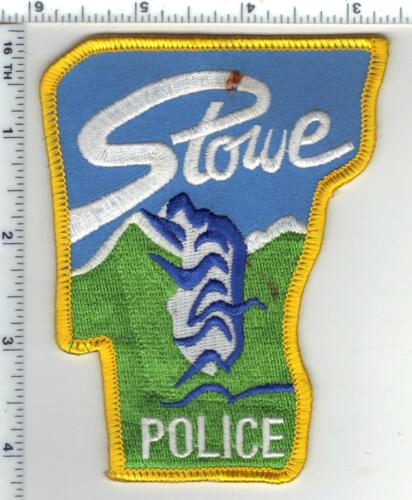 Stowe Police (Vermont) Shoulder Patch (stained - please see the picture)