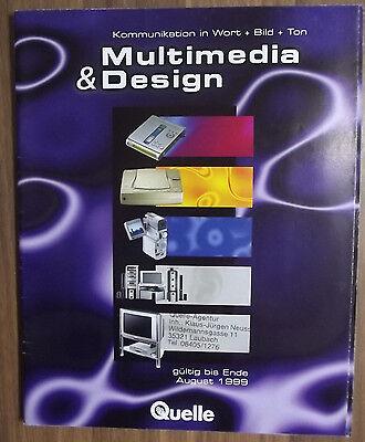 Multimedia und Design 1999 von Quelle, Katalog, sehr guter Zustand