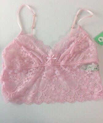 Honeydew Bralette Size Medium Camellia Lace Camilette Bra Pink Sand Lace New D34