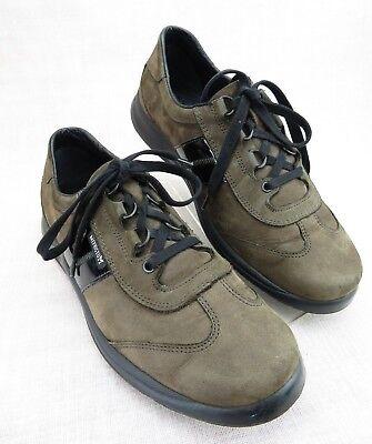 Mephisto Runoff Oxford Brown Black Nubuck Leather Comfort Walking Shoe Women's 8