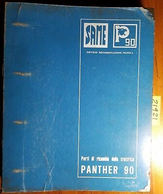 Same Panther 90 Tractor Sn 5001- Parts Catalog Manual 3078.041.1.1 578