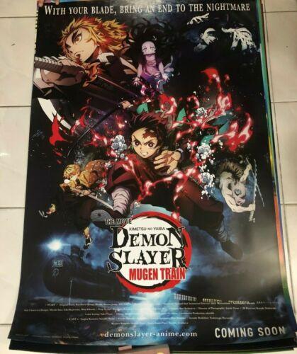 ORIGINAL DEMON SLAYER The Movie 27x39.5 DS POSTER Kimetsu no Yaiba Japan Animate