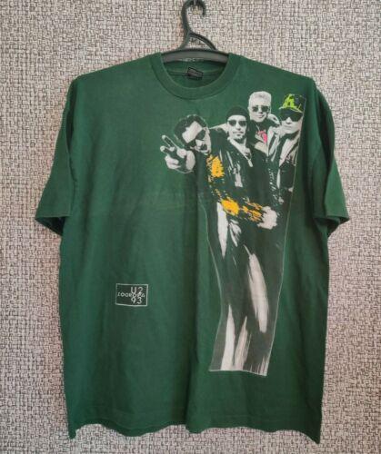 U2 Zooropa Ireland 1993 Concert Tour Music Vintage 90s Shirt Jersey Mens Size XL