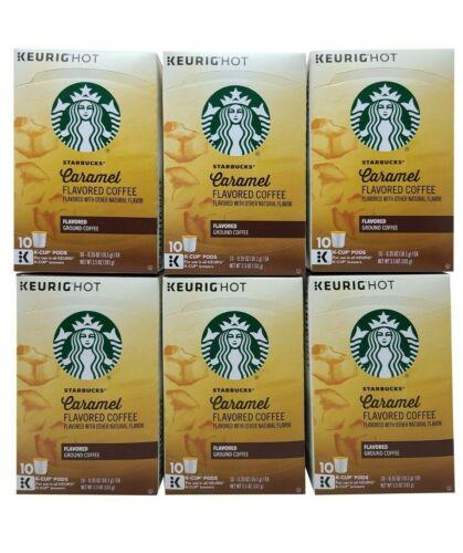 Starbucks Keurig Hot Caramel Flavored Ground Coffee 60 K-Cup Expiration Jun 2020