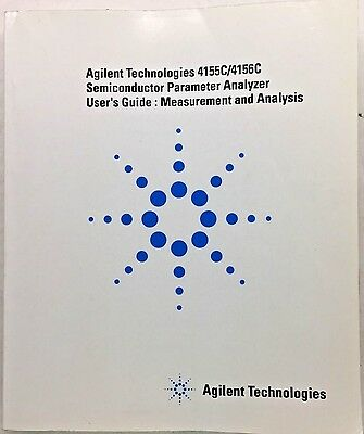 Agilent 4155c4156c Semiconductor Parameter Analyzer Users Guide 04156-90020
