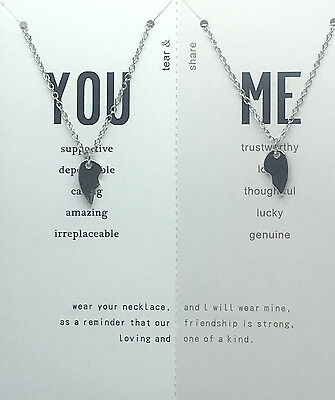 Friendship Broken Heart Best Friend You And Me Necklace