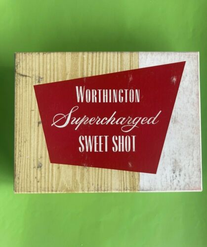 6 Vintage Supercharged Sweet Shot Worthington Golf Balls w/Box Rare 1938
