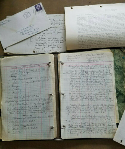 Handwritten Lineage Note Book & Documents re: Daughters of American Revolution