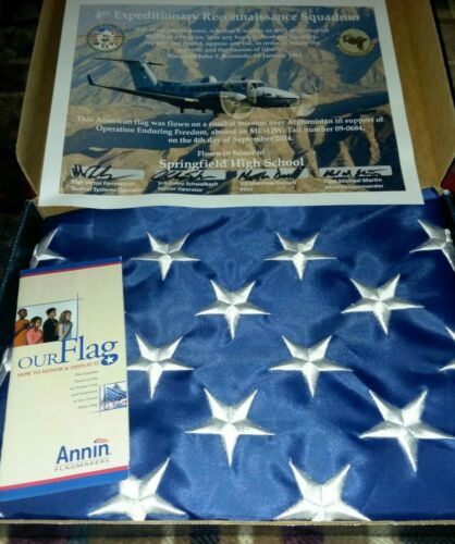 AMERICAN FLAG 4th Expeditionary Reconnaissance Squadron Combat Mission Flown