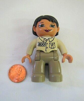 LEGO DUPLO ZOO KEEPER WOMAN LADY WORKER 2.5