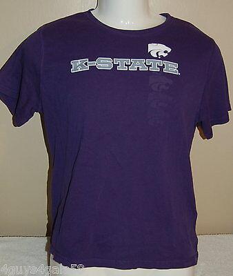 Tee Shirt K STATE POWERCAT Purple Boys XL Sports Kansas - K State Powercat