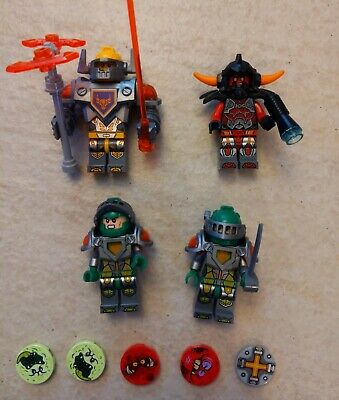 Lot of 4 Lego Nexo Knights Minifigure + accesories b4