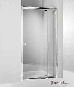 Box doccia cristallo cabina nicchia porta a battente 68 75 80 85 90 95 100 cm tr ebay - Porta cabina doccia ...