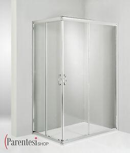 Cabina box doccia trasparente bagno cristallo 6mm 70x90 for Finestra 70x100