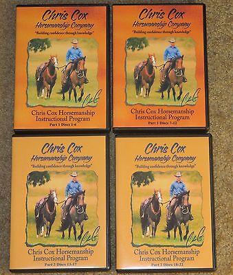 Chris Cox 23 DVD Set Horse training riding