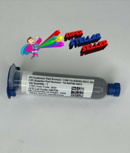 GLOBAL TECHNOLOGY TG-NSP80-30CC THERMAL NON-SILICONE PUTTY GRAY 30cc Cartridge