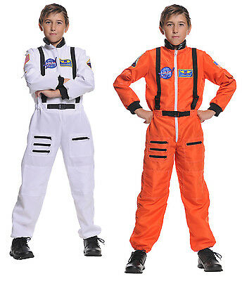 CHILD ASTRONAUT COSTUME JUMPSUIT KIDS NASA SHUTTLE PILOT SPACE SHIP CADET - Astronaut Costumes Kids