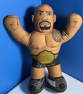 "WWE The Rock Plush Talking Wrestling Doll 2012 Brawlin Buddies 16"" Dwayne"