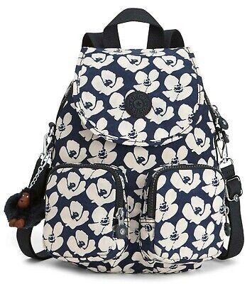 Kipling FIREFLY UP Small Backpack Covertible To Shoulder Bag - Bold Flower