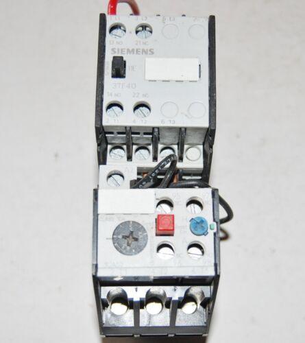 Siemens 3TF4011-CA Motor Starter w/3UA5000-1G Overload & 120 Volt Coil, 4.0-6amp