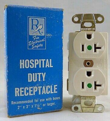 Daniel Woodhead Hospital Grade Duplex Receptacle 20a 125v White New In Box
