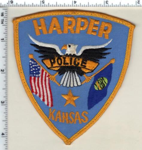 Harper Police (Kansas) uniform take-off patch from 1990