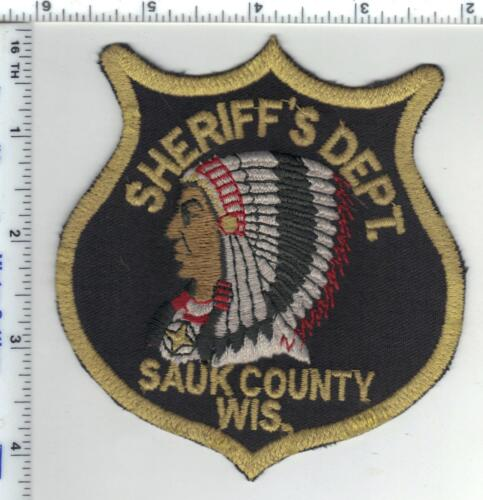Sauk County Sheriff (Wisconsin) 1st Issue Uniform Take-Off Shoulder Patch
