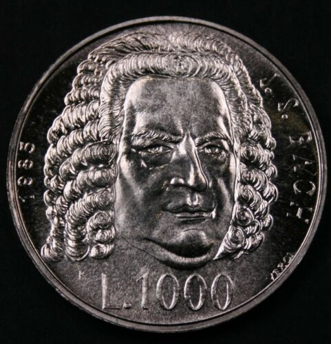 San Marino 1985 1000 Lire - Bach Tercentenary - BU