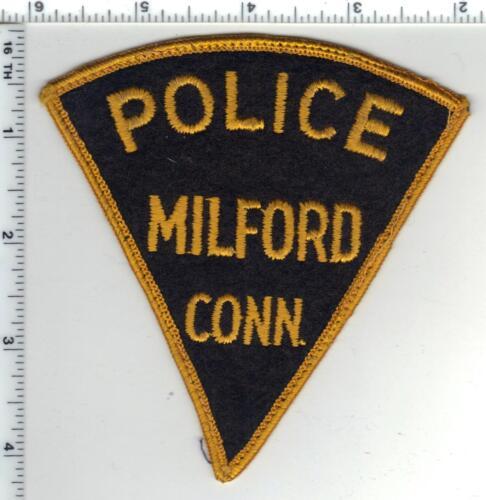 Milford Police (Connecticut) Uniform Take-Off FELT Shoulder Patch - RARE 1970