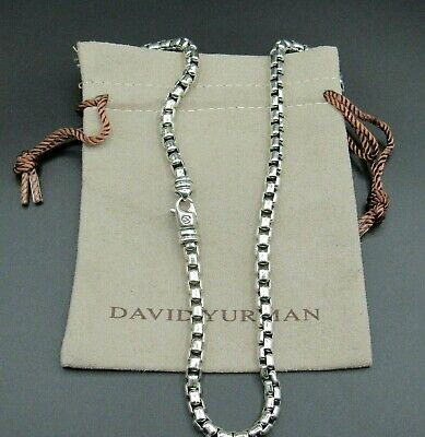 "David Yurman Necklace Box Chain 5.2mm  26""L"