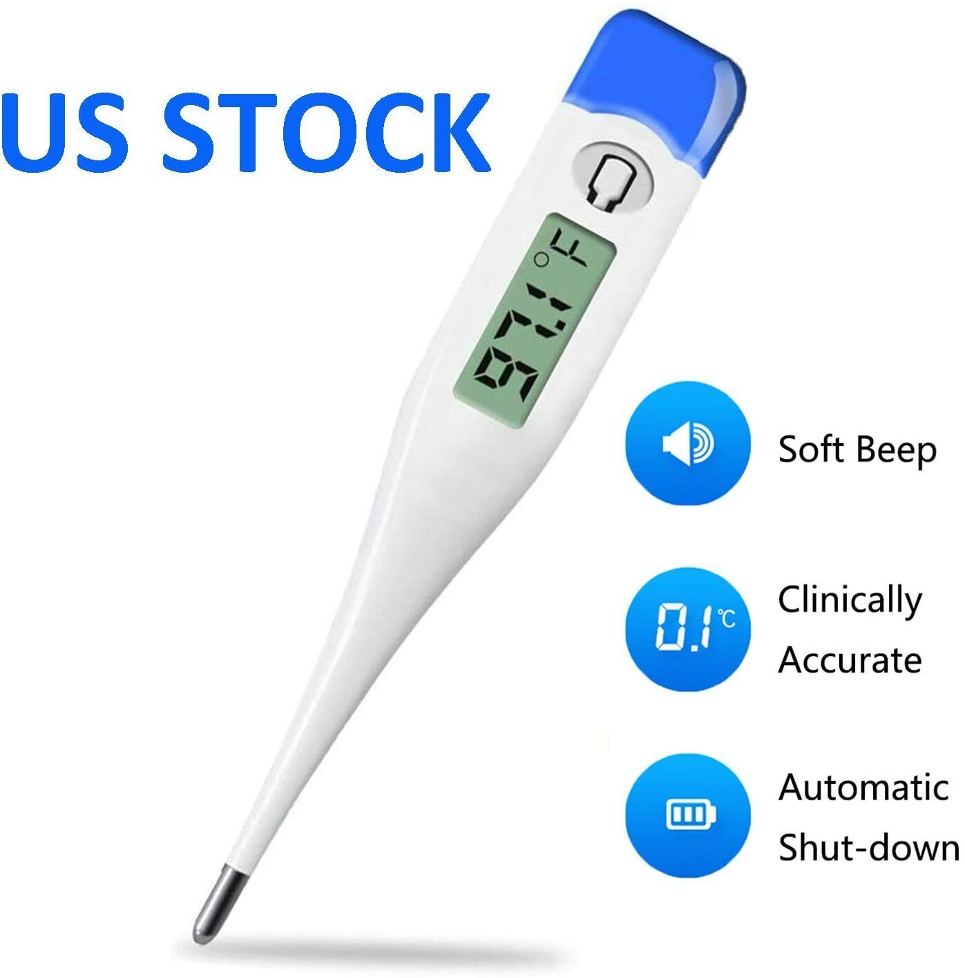 Digital Fever Thermometer for Adults and Kids, Medical Oral/Rectal/Underarm Body Baby