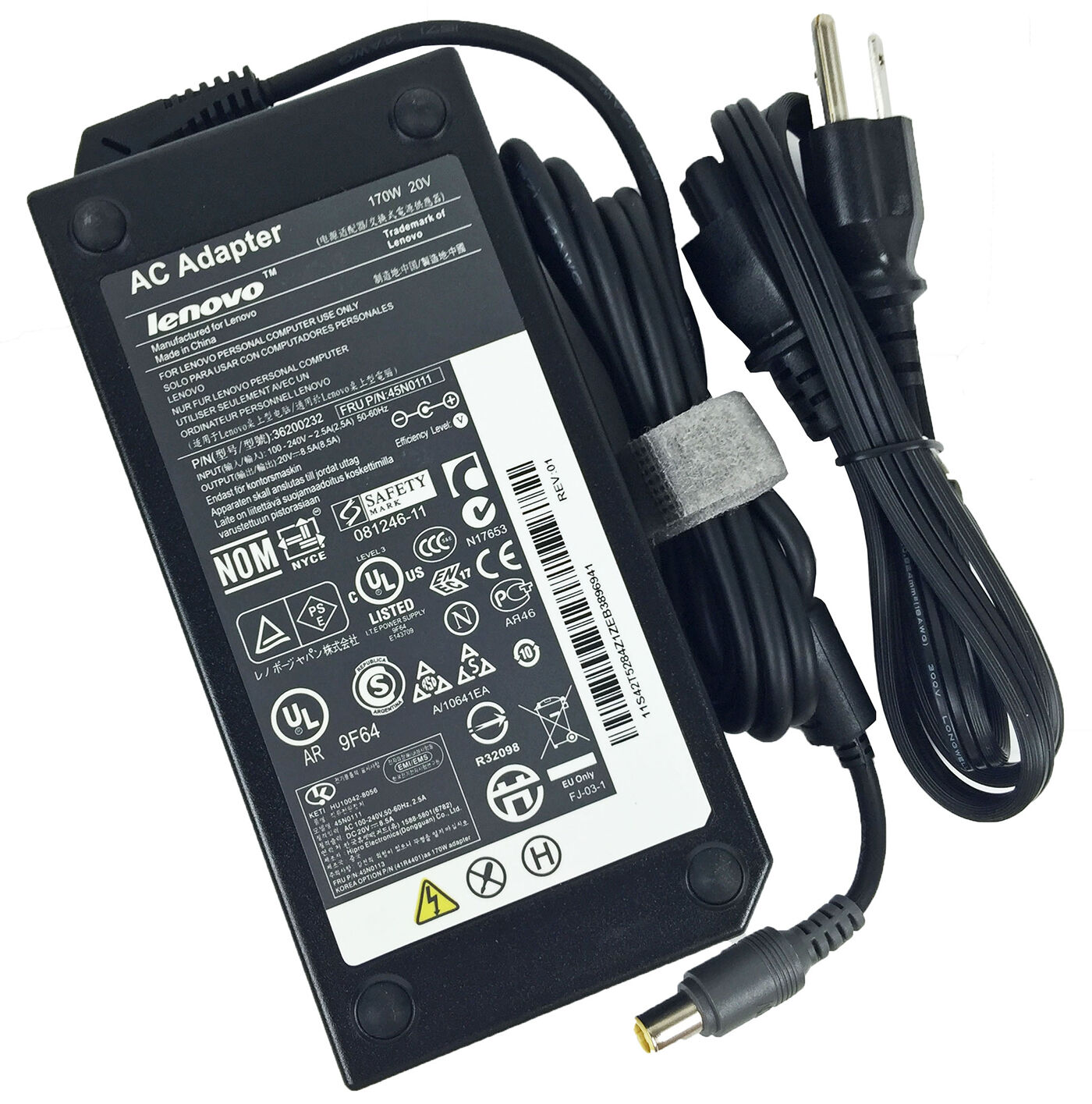 Genuine Lenovo 170w 20v Ac Power Adapter Charger Thinkpad...