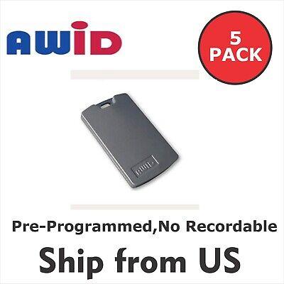 5 Pack Awid Fobs 26 Bit Access Control Key Tag Pre-programmedno Recordable