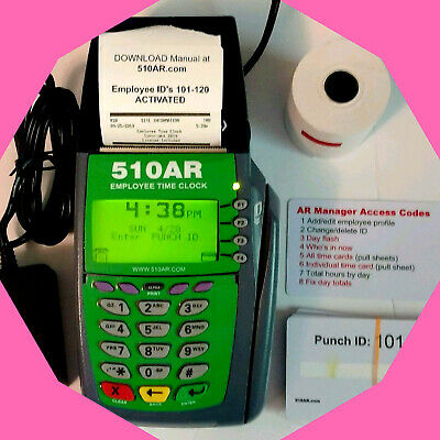 Popular Employee Time Clock Punchcard Swipe Digital Decimal Hours