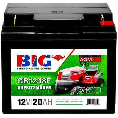 Rasentraktor Aufsitzmäher BIG-Batterie AGM 12V 20Ah ersetzt 18Ah 17Ah Rasenmäher
