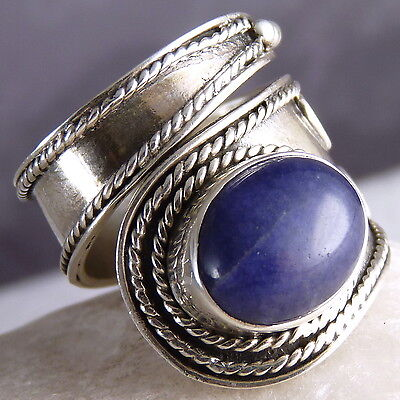 Fully Adjustable ~ Large 925 Sterling Silver SILVERSARI Wrap Ring ~ LAPIS LAZULI